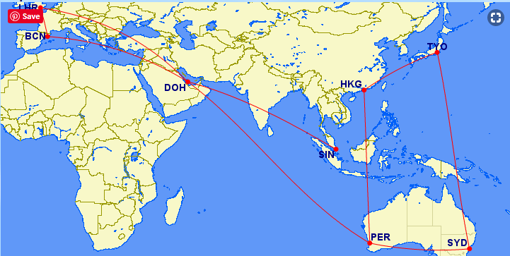 Qantas Round The World Points Booking Guide 7