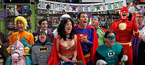 The Big Bang characters dressed as superheroes