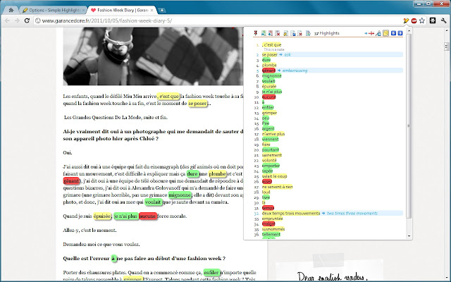 Simple Highlighter (deprecated) chrome extension