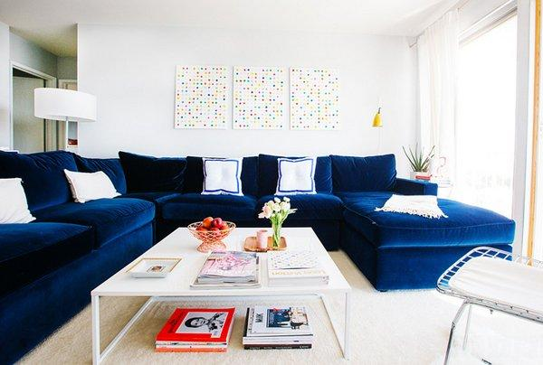navy blue sectional couch for living room