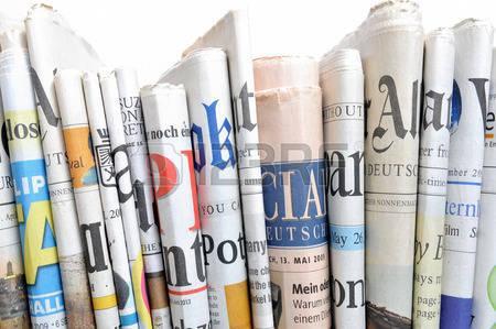 Rangée de journaux Banque d'images - 27588734