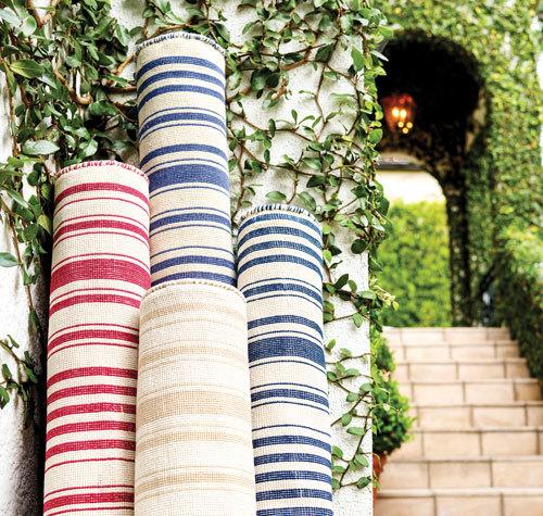 Stripe area rugs
