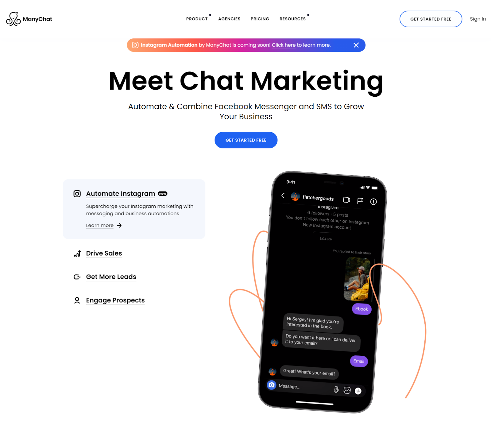Manychat Chatbot- Sales and Marketing Solution