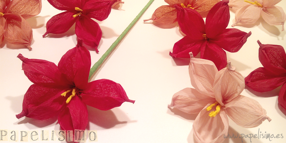 Tarta de pa ales decorada con flores de papel papelisimo - Portavelas grandes ...
