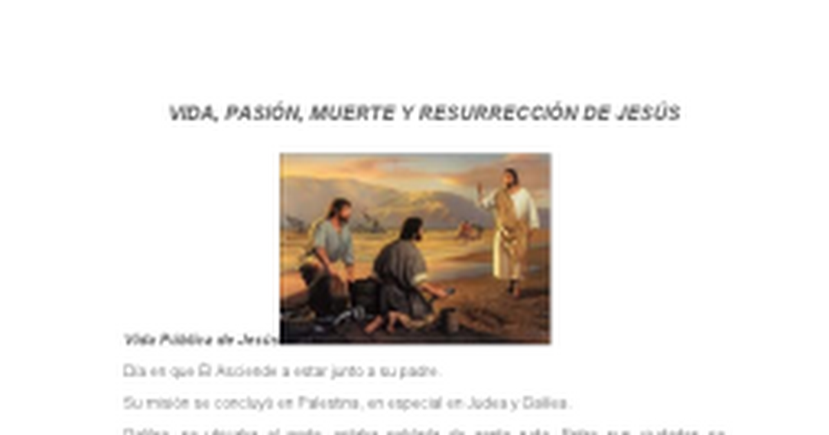 VIDA pasion muerte y resureccion de Jesus2docx  Google Docs