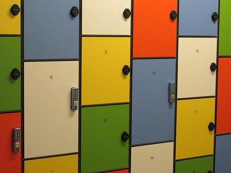 Locker, Storage, Colorful, Closed