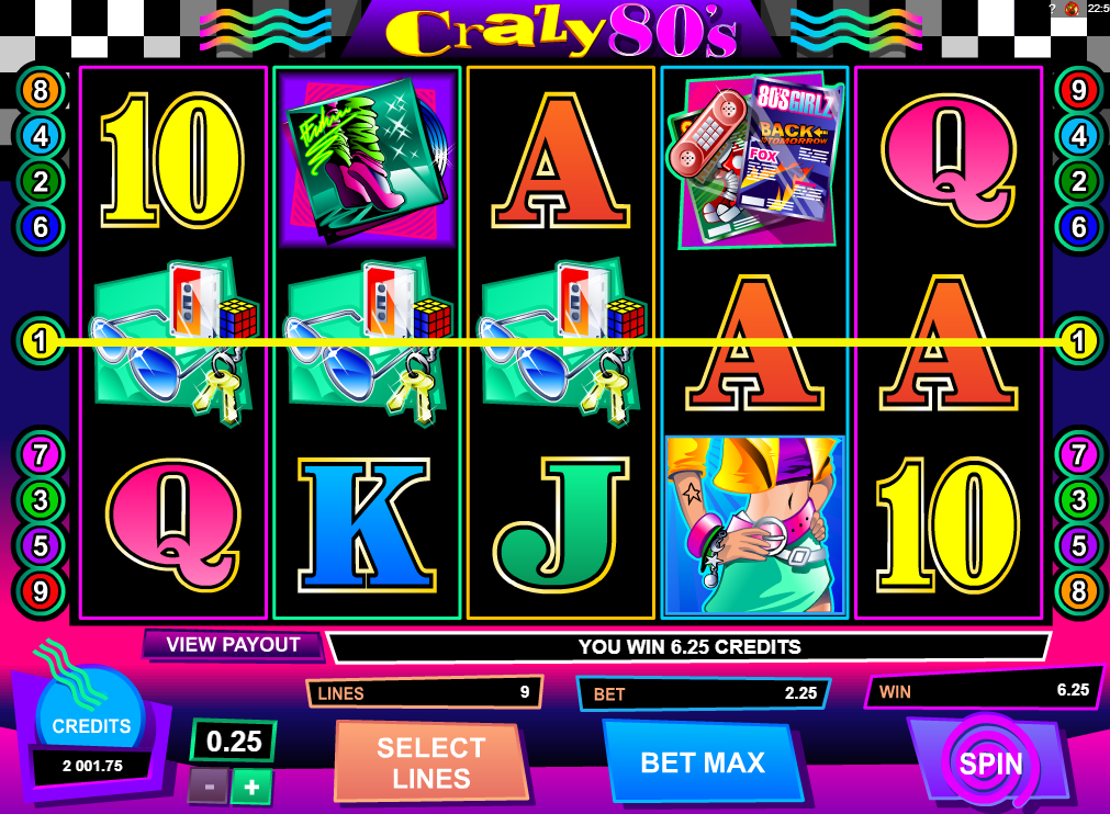 Crazy 80s Slots Machine Review - GamingSafe