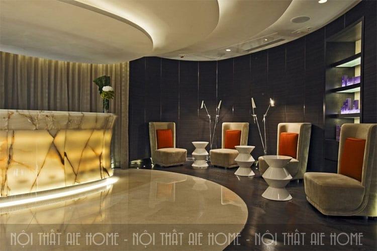 Thiết kế không gian sảnh spa thật sang trọng và ấn tượng