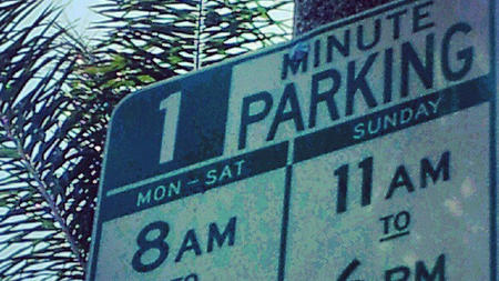 Parking sign typo