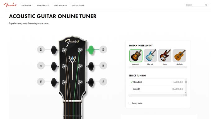 acoustic guitar tuner