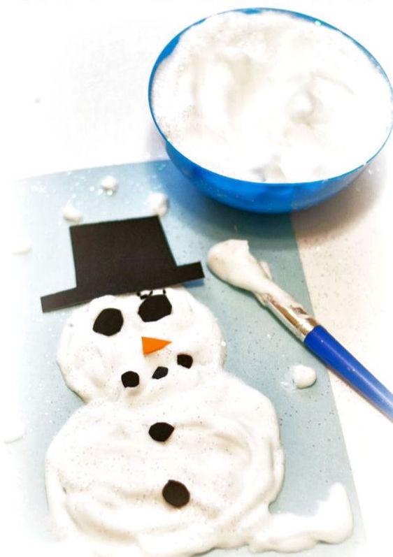 como hacer pintura helada de nieve