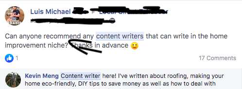 Facebook is the best place to find freelance writing jobs as a college student