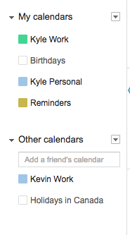 share your google calendar with your cofounder
