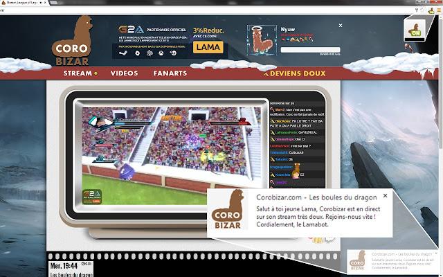 Corobizar.com - Alerte Live chrome extension