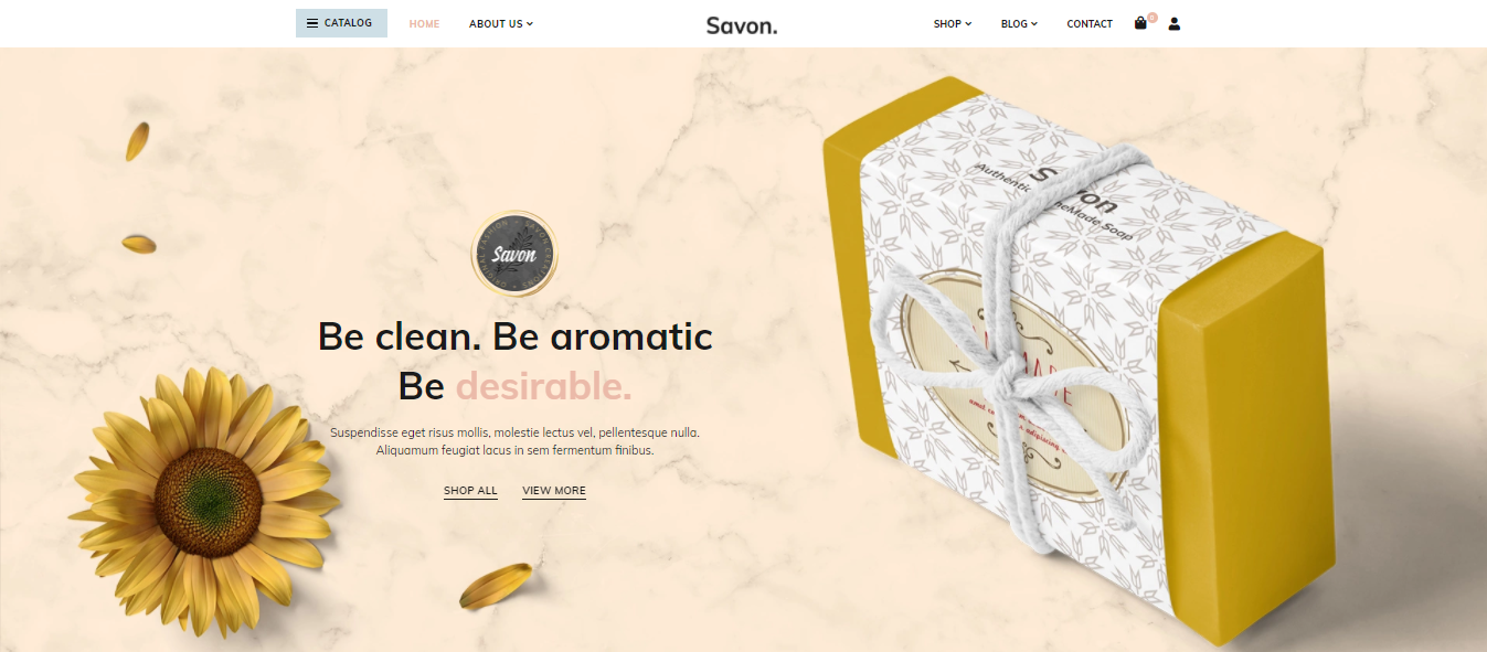 Savon - handmade woocommerce theme