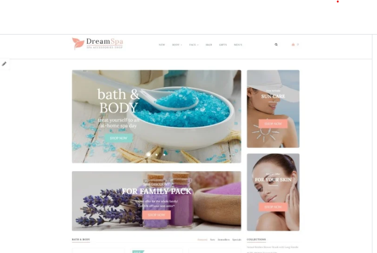 advanced Spa opencart theme