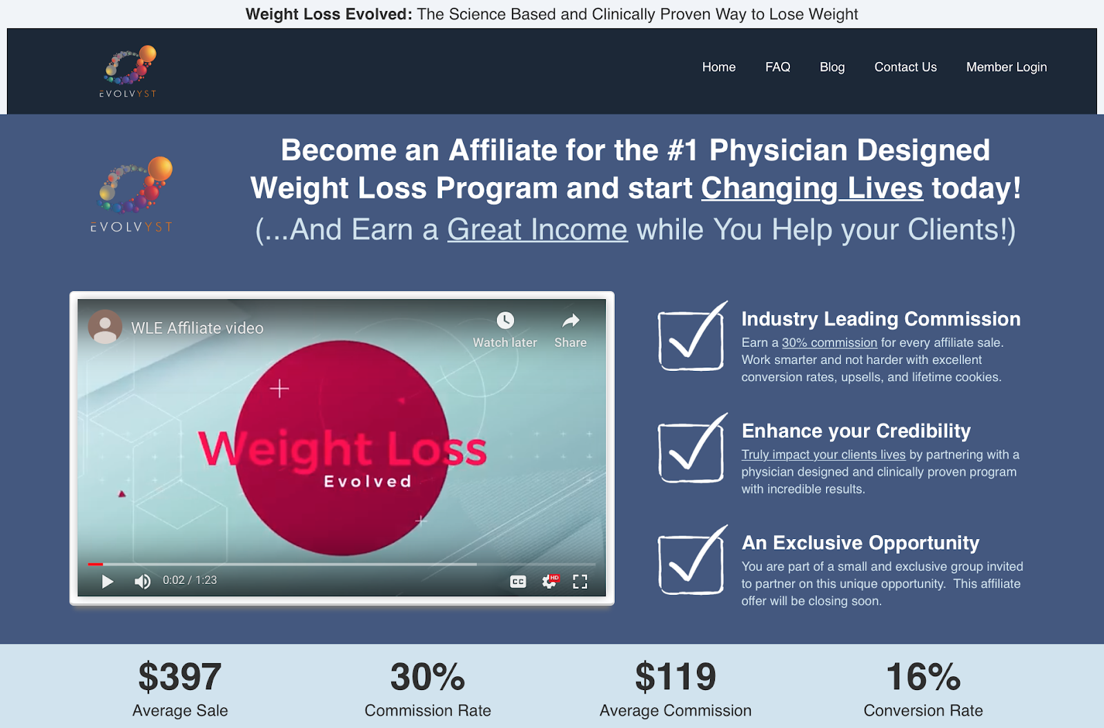 How To Make Money With a Weight Loss Blog Affiliate Program Example