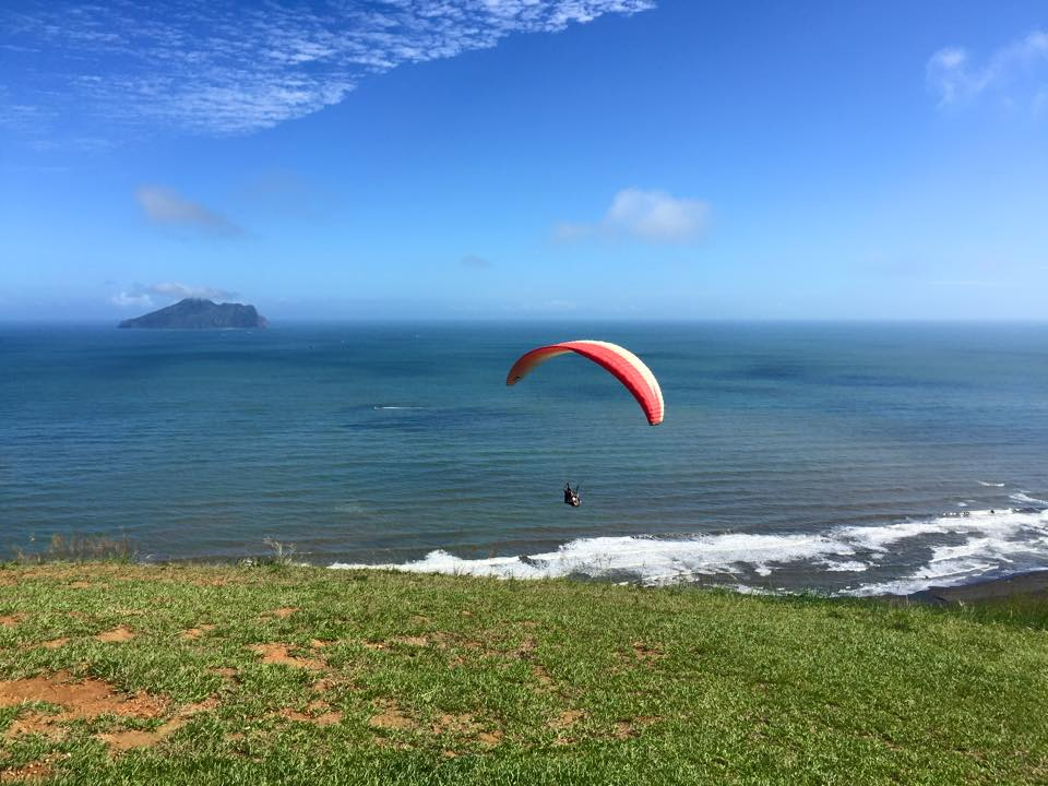 外澳飛行傘基地wai'ao paragliding