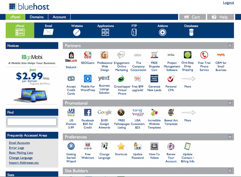 Bluehost: Web Hosting Review cPanel