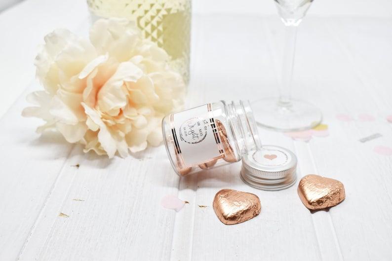 wedding favours - chic sweet jars