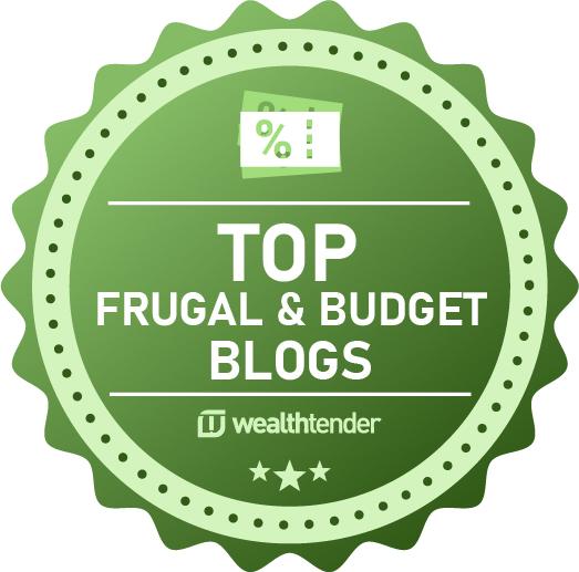 Top Frugal & Budget Blogs badge