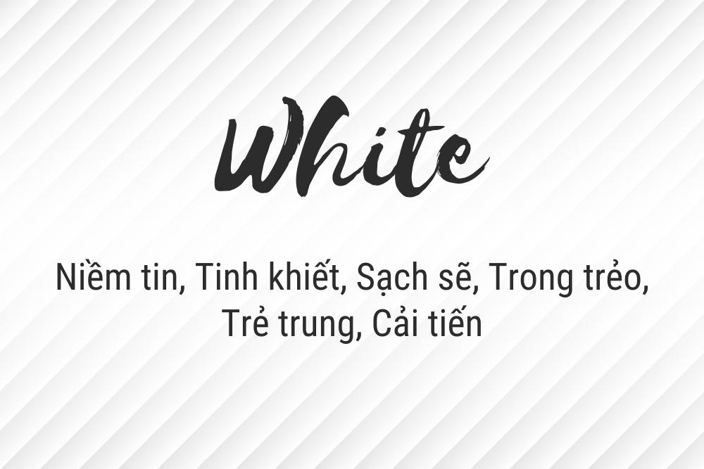 ý nghĩa màu trắng trong thiết kế logo