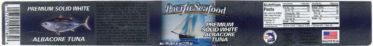Pacific Seafood brand Premium Solid White Albacore Tuna