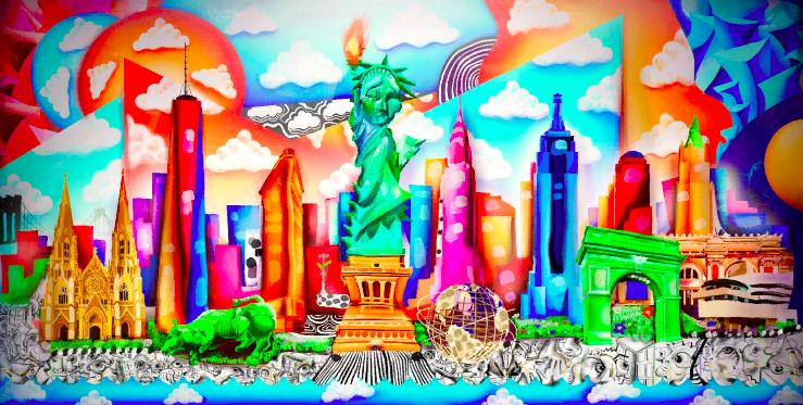 Изображение картины «Нью-Йоркский горизонт» в виде NFT