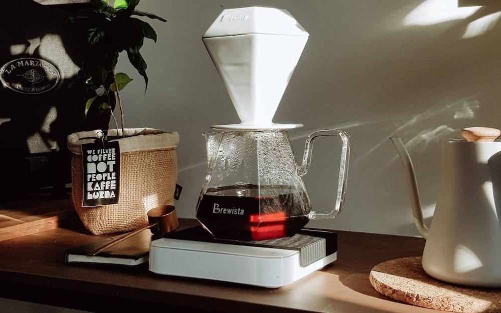 pourover coffee setup