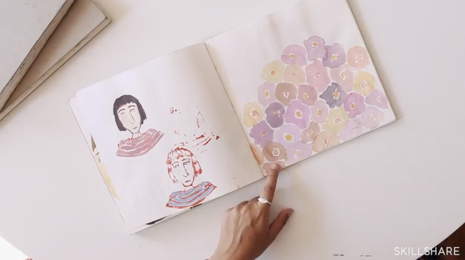 Illustrator Leah Goren's sketchbook, filled with inspiration from everyday things.