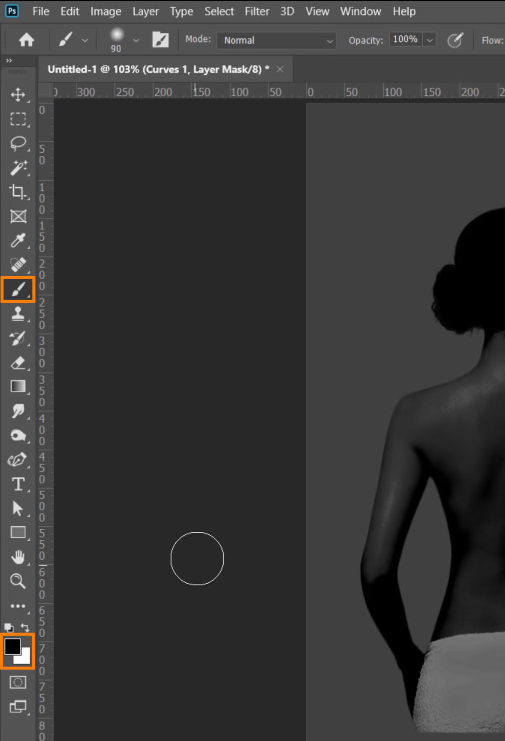 Set black as your Foreground color