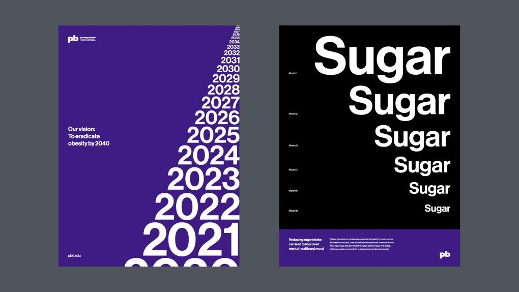 Pennington Biomedical Typographic Posters
