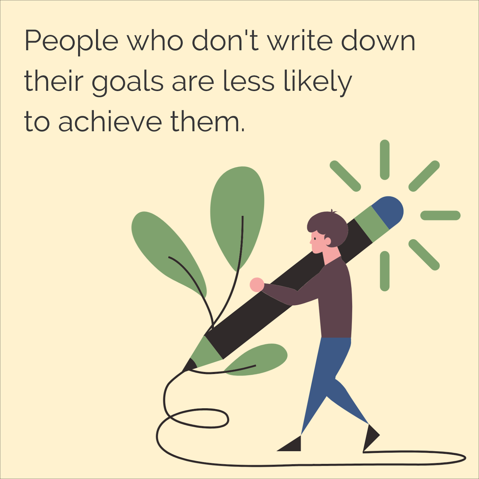 People who don't write down their goals are less likely to achieve them, so it's time to recognise your new year goals.