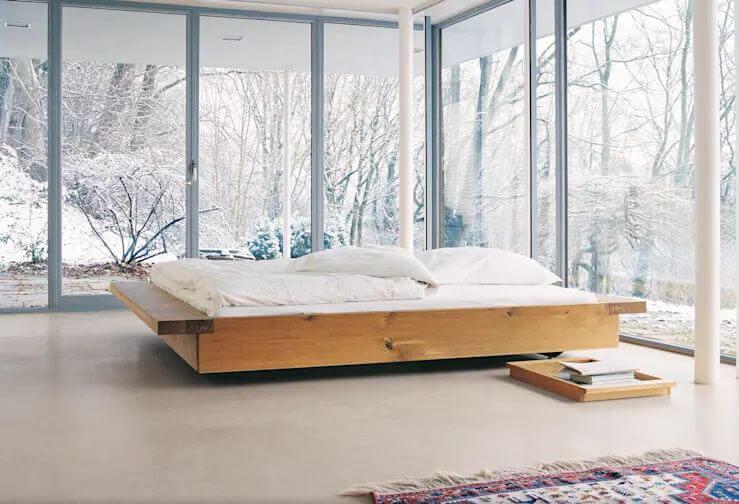 Mẫu giường ngủ đơn giản độc đáo trong ngôi nhà