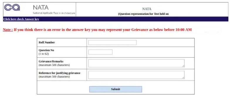 NATA 2021 Answer Key