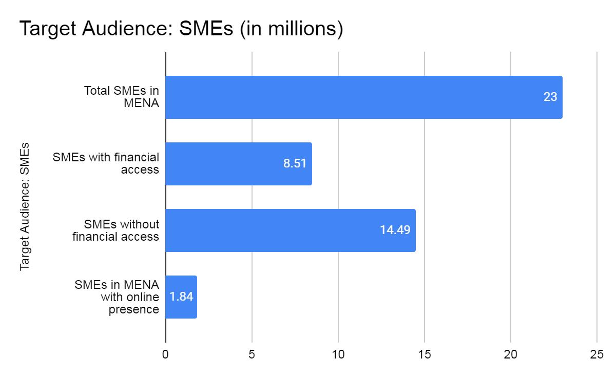 Total target audience: number of SMEs in MENA