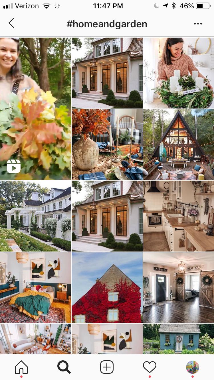 home and garden trending instagram hashtags