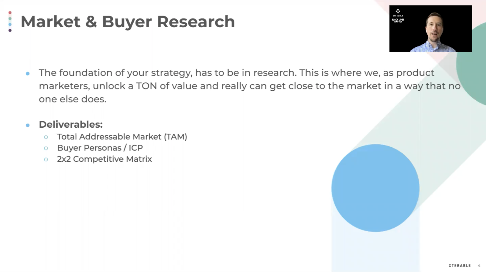 The foundation of the GTM process is initially built on market and buyer research.