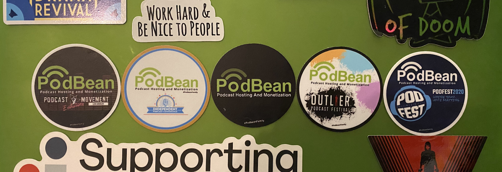 example picture of podbean stickers