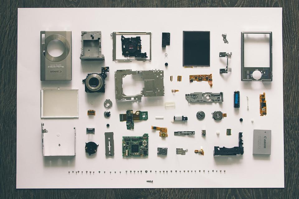 Digital Camera, Disassembly, Component Parts
