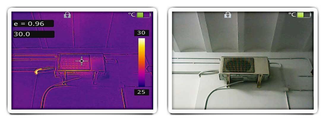 Identificación de pérdidas de frío o de calor