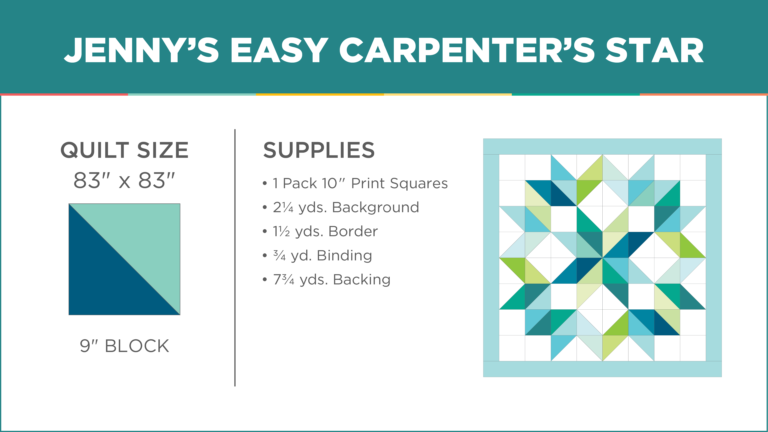 Easy Carpenter's Star Quilt