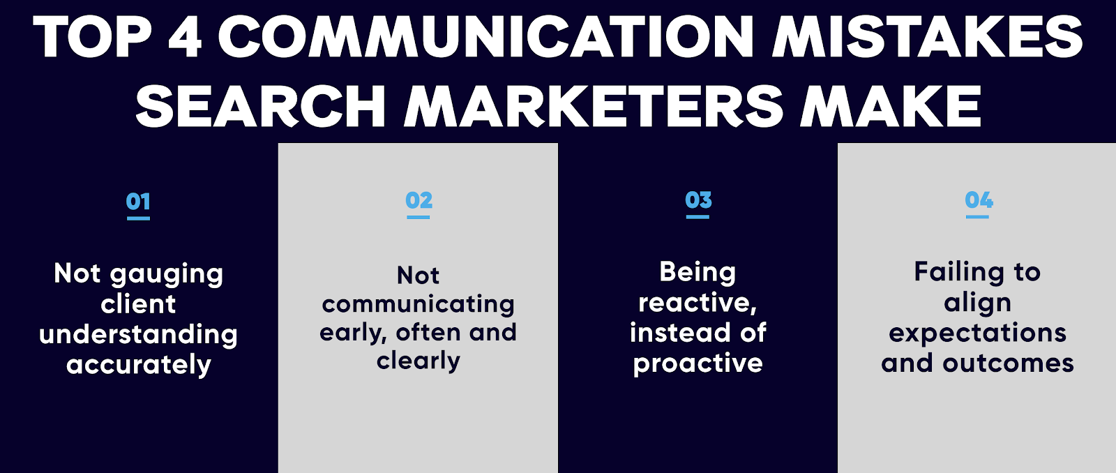 4 communication mistakes search marketers make