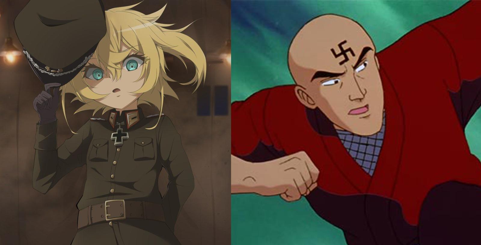Personagens de Youjo Senki e Yu Yu Hakusho.