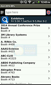 ALA Mid Winter 2014 App, Exhibitors