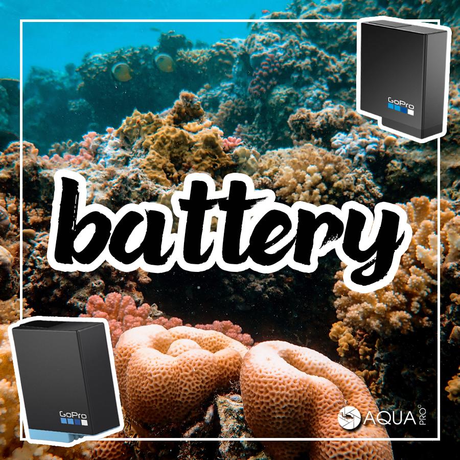 GoPro ถ่ายใต้น้ำ - battery
