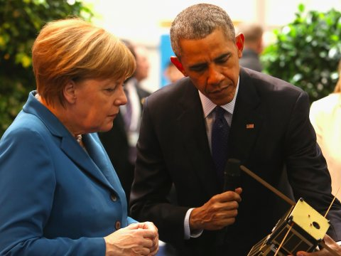 Billedresultat for obama and merkel