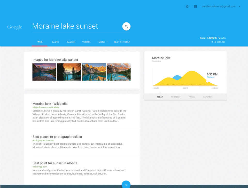 Google Websuche Material Design