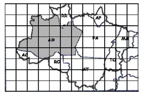 Baseada na questão 5, considere a quantidade mínima de quadradinhos necessários para que se cubra, com sobra, toda a área do estado do Amazonas (AM). A área aproximada, em quilômetros quadrados, do estado do Amazonas (AM) é de