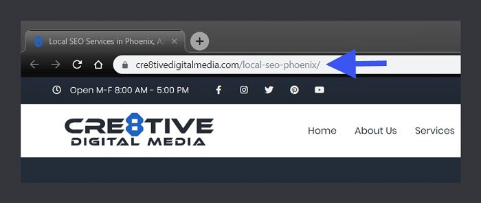 Local SEO Services in Phoenix, AZ-Screenshot of URL